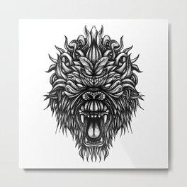 Gorilla Ink Metal Print