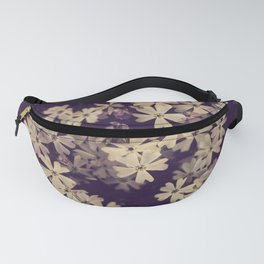 Purple and Cream Floral Creeping Phlox Fanny Pack