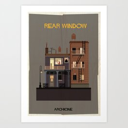 Rear Window   Directed by Alfred Hitchcock Art Print