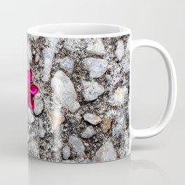 Pink Flower on Pebble Pavement Coffee Mug