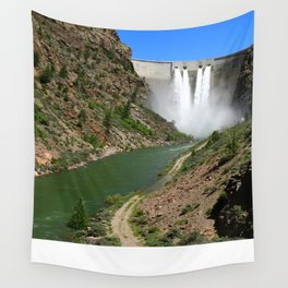 Morrow Point Dam Wall Tapestry