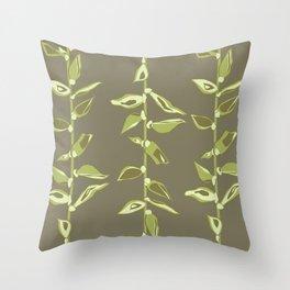 Avacado Floral Throw Pillow