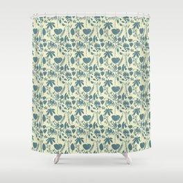 Native Flora On Ecru Pattern Shower Curtain