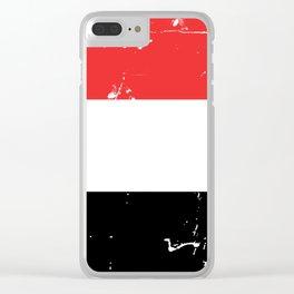 Republic of Yemen flag Clear iPhone Case