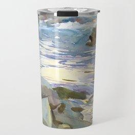 Stream and Rocks by John Singer Sargent, 1901 Travel Mug