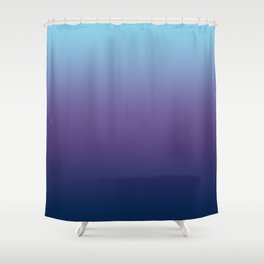 Ombre Blue Ultra Violet Gradient Pattern Shower Curtain