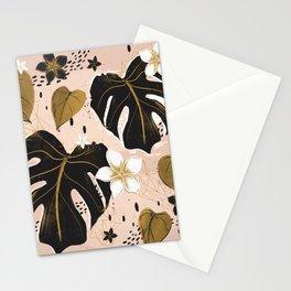 Distressed modern vintage Monstera and Pothos mashup  Stationery Cards
