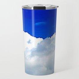 Clouds in a Clear Blue Sky Travel Mug