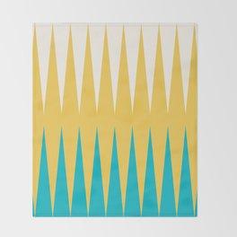 Geometrical retro colors modern print Throw Blanket
