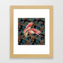 cranes and waves Framed Art Print