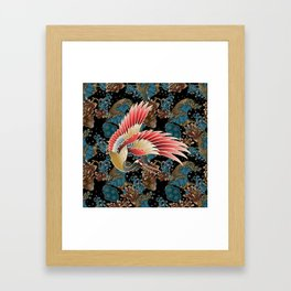 cranes and waves Framed Art Print