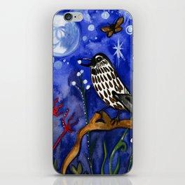 Silver Moon Berries iPhone Skin