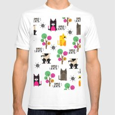I LOVE CATS MEDIUM White Mens Fitted Tee