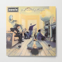 Oasis - Definitely Maybe Metal Print