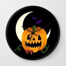 Night of the Jack O'Lantern Wall Clock