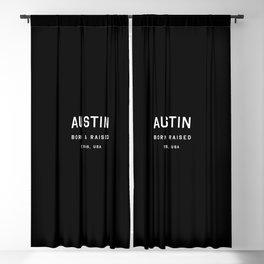 Austin - TX, USA (Black Arc) Blackout Curtain