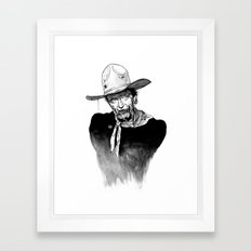 Zombie Wayne. Framed Art Print