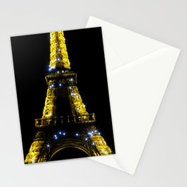 Eiffel Tower at Midnight Stationery Cards