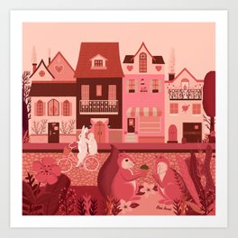 Neighborhood of love Art Print