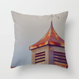 Rusted Rooftop Throw Pillow