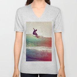 Danse avec les vagues Unisex V-Neck