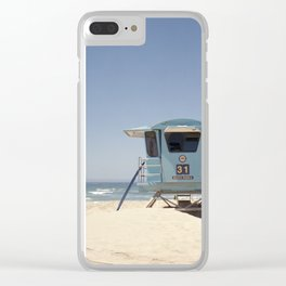Lifeguard Tower #31 Clear iPhone Case