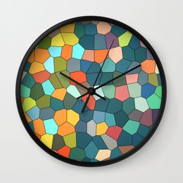 Stained Glass Multi-Color Cool Mint Wall Clock