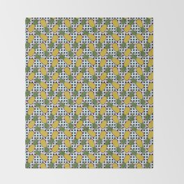Polka Pinapples Throw Blanket