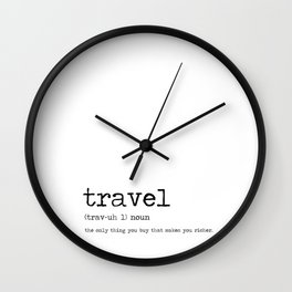 Travel by definition Wall Clock