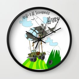 UH-1H Huey Helicopter Wall Clock