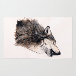 Grey wolf Rug