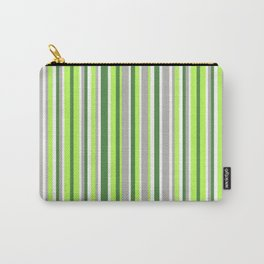 Green and Grey Stripes Carry-All Pouch