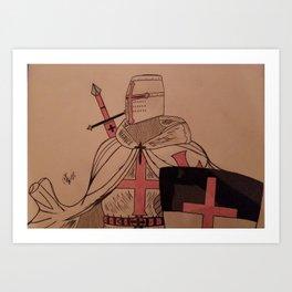Knights templar Art Print
