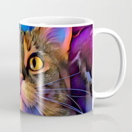 Maisy Cat Digital Manipulation Coffee Mug