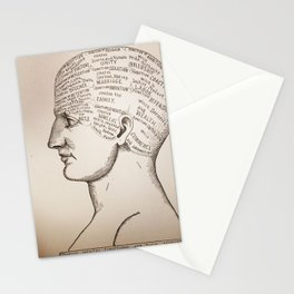 Phrenology Head Stationery Cards