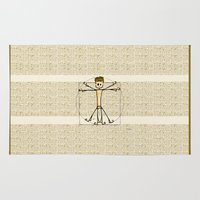 biology Area & Throw Rugs featuring Vitruvius by Giuseppe Lentini