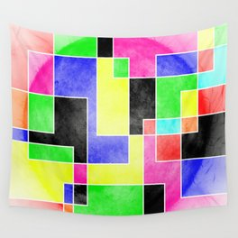 Colour Pieces Wall Tapestry