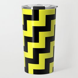 Black and Electric Yellow Steps RTL Travel Mug