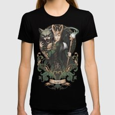 House of Loki: Sons of Mischief MEDIUM Womens Fitted Tee Black
