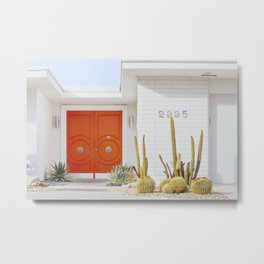 Orange Door in Palm Springs Metal Print