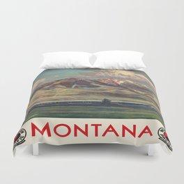 Vintage poster - Montana Duvet Cover