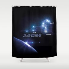 Lion - sign of the zodiac Shower Curtain