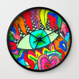I see Color Wall Clock