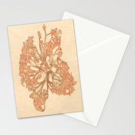 butterfly starfish Stationery Cards