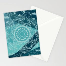 Singing white mandala Stationery Cards