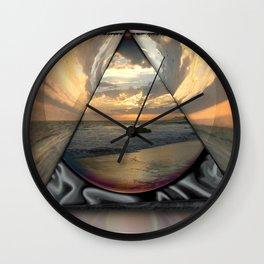 Earth's Embrace Wall Clock