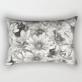 Summer in Charcoal Rectangular Pillow