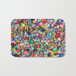 Rainbow Sprinkles - cupcake toppings galore Bath Mat