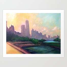 Skyline Sunset Art Print