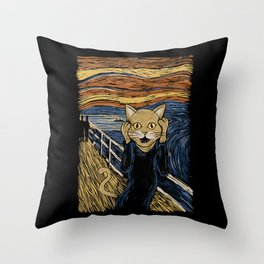 The Purr Throw Pillow